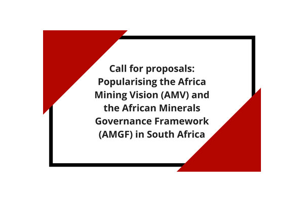 Special Call for Proposals African Mining Vision OSF-SA Newsroom Open Society Foundation for South Africa