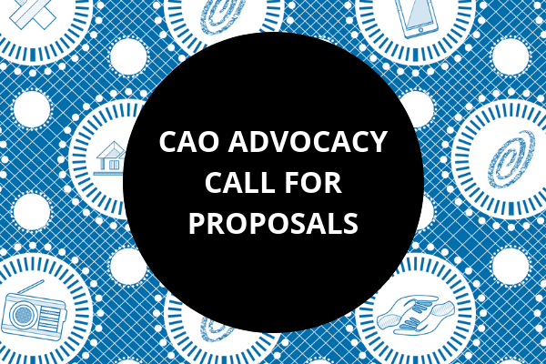 CAO Advocacy Call for Proposals OSF-SA